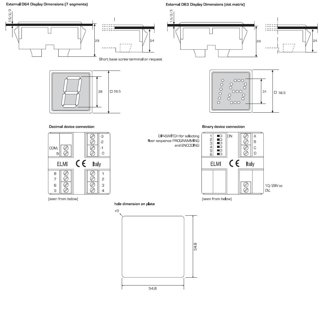 Elmi 7 Segments Dot Matrix Binary Switch Wiring Diagram Product Brochure